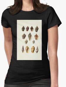 Thesaurus conchyliorum Monographs of genera of shells George Brettingham Sowerby 1887 V1-V5 050 Womens Fitted T-Shirt