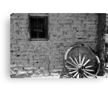 Adobe and Wagon Wheel Canvas Print