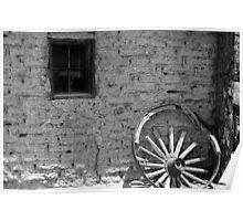 Adobe and Wagon Wheel Poster