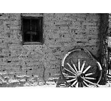 Adobe and Wagon Wheel Photographic Print