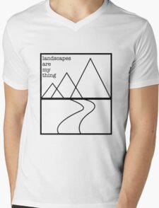 Landscapes are my thing outline Mens V-Neck T-Shirt