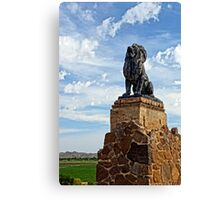 Lion on Grotto Hill Canvas Print