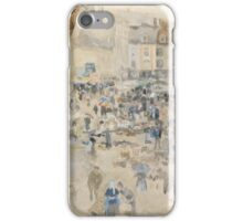 Variations in Violet and Grey—Market Place, Dieppe ,  James McNeill Whistler iPhone Case/Skin