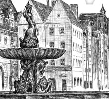 XVII century Fountain Triton in european city, Poland Sticker