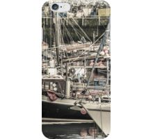 Boats in a Harbour - Cornwall iPhone Case/Skin