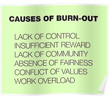 Causes of Burnout Poster