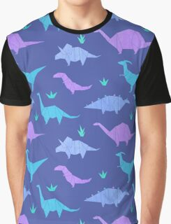 Origami Dinosaurs Graphic T-Shirt