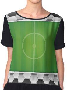 Geometric Sports Lover Soccer Stadium Chiffon Top