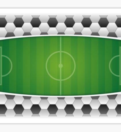 Geometric Sports Lover Soccer Stadium Sticker