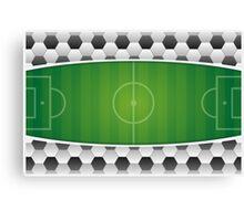 Geometric Sports Lover Soccer Stadium Canvas Print