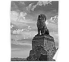 Lion on Grotto Hill 2 Poster