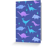 Origami Dinosaurs Greeting Card