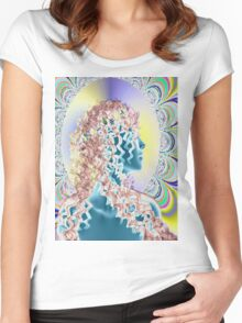 PSYCHEDELIC NEW ROMANTIC Women's Fitted Scoop T-Shirt