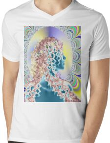 PSYCHEDELIC NEW ROMANTIC Mens V-Neck T-Shirt