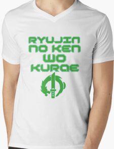Ryujin no ken wa kurae! Mens V-Neck T-Shirt