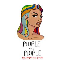 people are people and people love people Photographic Print