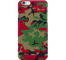 Green Red Camo Camouflage Design iPhone Case/Skin