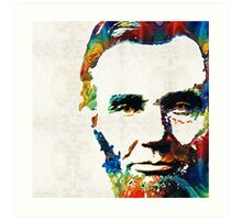 Abraham Lincoln Art - Colorful Abe - By Sharon Cummings Art Print