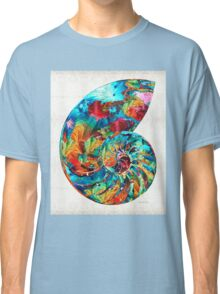 Colorful Nautilus Shell by Sharon Cummings Classic T-Shirt