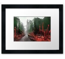 "INSAMNIA's ""Red Thorn Pass"" Framed Print"
