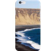 Black Basalt Beach at Vik iPhone Case/Skin