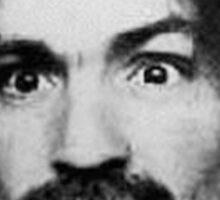 Charles Manson Mugshot Sticker