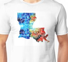 Louisiana Map - State Maps By Sharon Cummings Unisex T-Shirt