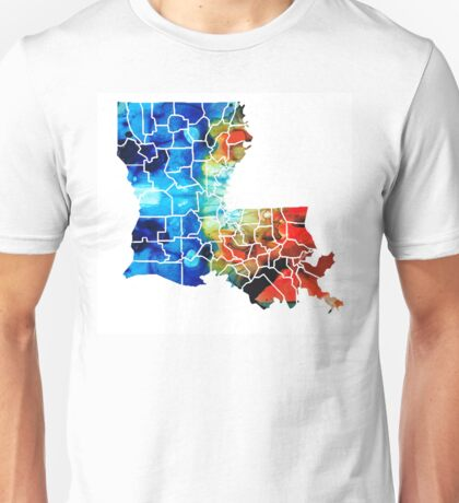 Louisiana Map - State Maps By Sharon Cummings Unisex T-Shirt
