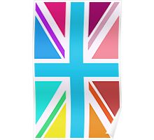 Union Jack/Flag Design Multicoloured Poster