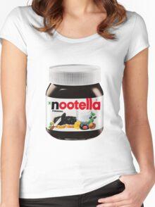 pingu nutella, nootella  Women's Fitted Scoop T-Shirt
