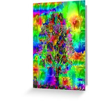 CRAZY TREE Greeting Card