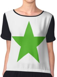GREEN STAR, Environment, Environmentalist, Ecology, Eco, Nature, Green, Chiffon Top