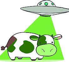 Cow Alien Abduction by SaradaBoru
