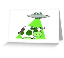 Cow Alien Abduction Greeting Card