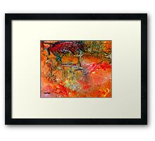 Red Cliff Framed Print