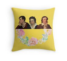 Tote Romantics in yellow Throw Pillow
