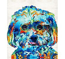 Colorful Dog Art - Lhasa Love - By Sharon Cummings Photographic Print