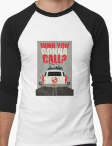 Who you gonna call Ghostbusters Men's Baseball ¾ T-Shirt