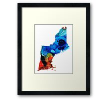 New England - Map By Sharon Cummings Framed Print