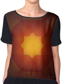 Red and yellow star pattern Chiffon Top