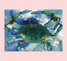 Blue Crab - Abstract Seafood Painting One Piece - Short Sleeve