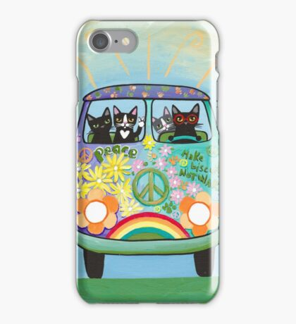 Hippie Cats Road Trip! iPhone Case/Skin