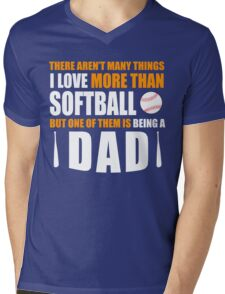 fathers day gift softball Mens V-Neck T-Shirt