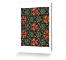 Green Earth Pattern Greeting Card