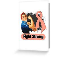 Rosie The Riveter Uterine Cancer Awareness Greeting Card
