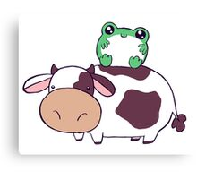 Frog Cow Canvas Print