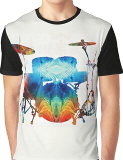 Drum Set Art - Color Fusion Drums - By Sharon Cummings  Graphic T-Shirt