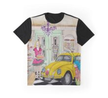 Taxi Bug's Cake Shop Graphic T-Shirt