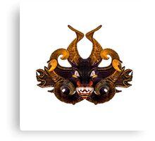 Demon Tribal Mask Canvas Print