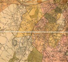 Map of Boston Massachusetts (1888) Sticker